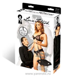 Lux Fetish — черная смирительная рубашка унисекс, L-XL