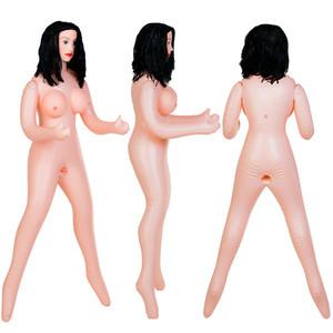 Кукла надувная Kaylee с реалистичной головой, брюнетка, TOYFA Dolls-X, кибер вставка вагина – анус,
