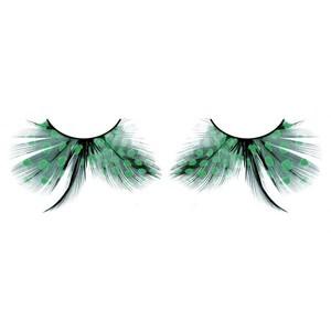 BL603 Ресницы бирюзовые перья