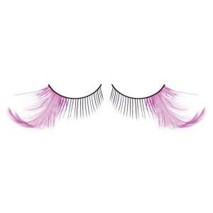 BL606 Ресницы черные-фиолетовые перья