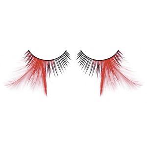 BL624 Ресницы черные-красные перья