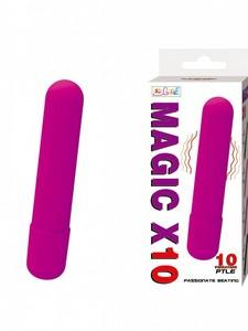 Фиолетовая вытянутая вибропуля-10,2 см