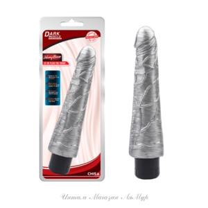 Вибратор реалистичный Johnny Boner-Silver, цвет серебряный ,23 см, Φ4. 8 см, арт.:CN-711879350