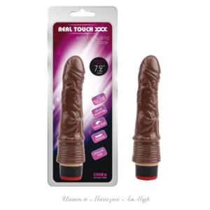 """Вибратор реалистичный 7.2""""Vibe Cock-Brown , цвет коричневый , L19cm.¢3.3cm , арт.:CN-101898415"""