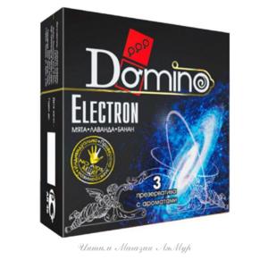 Презервативы Luxe DOMINO PREMIUM Electron, мята, лаванда и банан, 3 шт. в упаковке