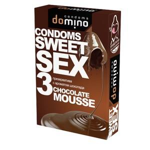 "ПРЕЗЕРВАТИВЫ ""DOMINO"" SWEET SEX CHOCOLATE MOUSSE 3штуки (оральные)"