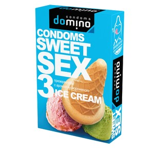 "ПРЕЗЕРВАТИВЫ ""DOMINO"" SWEET SEX ICE CREAM 3штуки (оральные)"