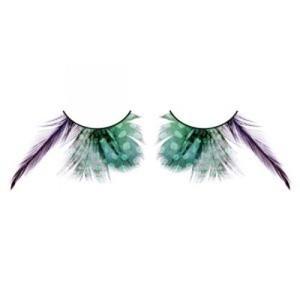 BL610 Ресницы зеленые перья