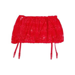 """Пояс кружевной для чулок """"Wide strip Red"""" красный"""