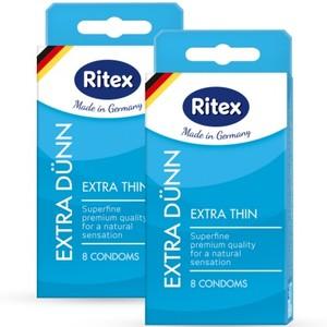 """ПРЕЗЕРВАТИВЫ """"RITEX EXTRA DUNN № 8"""" (УЛЬТРАТОНКИЕ), 8 штук"""